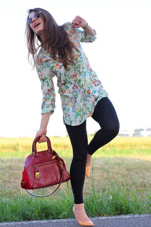 Il mio outfit: camicia floreale e leggings