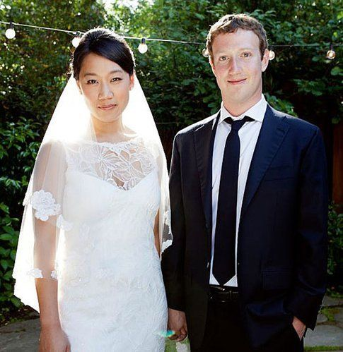 Zuckerberg e Priscilla al matrimonio