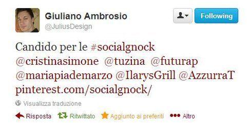 Le #socialgnock vengono candidate