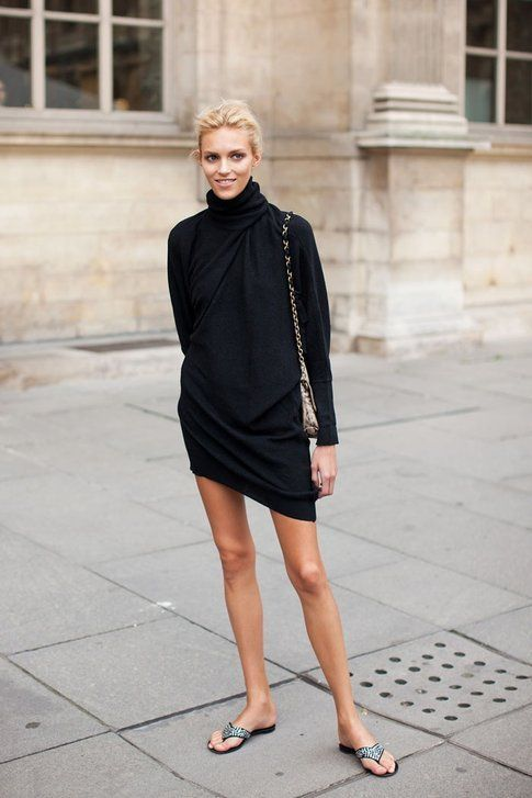 """Little Black Dress"" - fonte models-offduty.tumblr.com/"