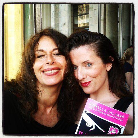 Io e Rossella Calabrò alla presentazione del suo libro - foto da Bigodino.it