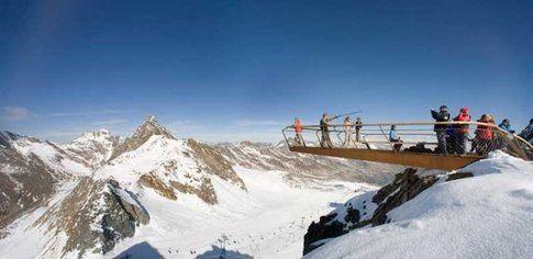Piattaforma panoramica a Stubai. Foto di stubaier-gletscher.com