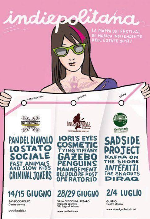 Indiepolitana - mappa di festival indie credits Alessandro Baronciani