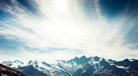 Paesaggi alpini. Foto di Saas-fee.ch