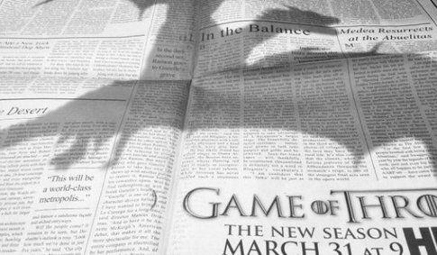 La campagna promozionale di Game Of Thrones terza stagione che ha fatto impazzire il web