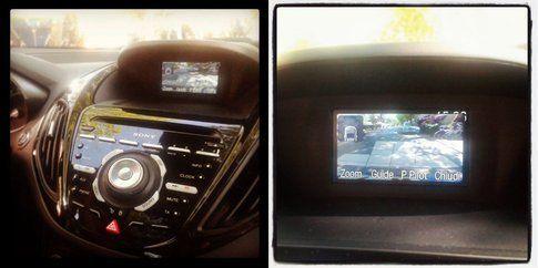 Ford B-max - la telecamera posteriore