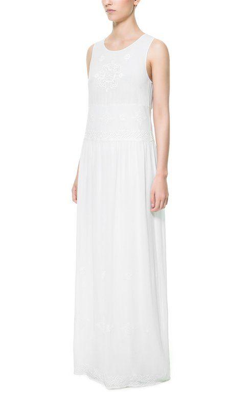 abito bianco Zara