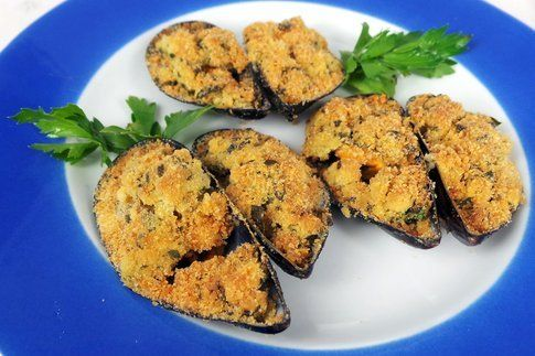 cozze gratinate pronte