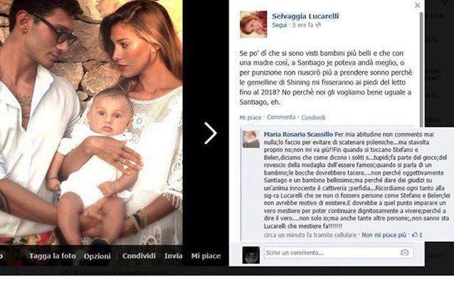 Selvaggia Lucarelli offende Bélen e suo figlio Santiago