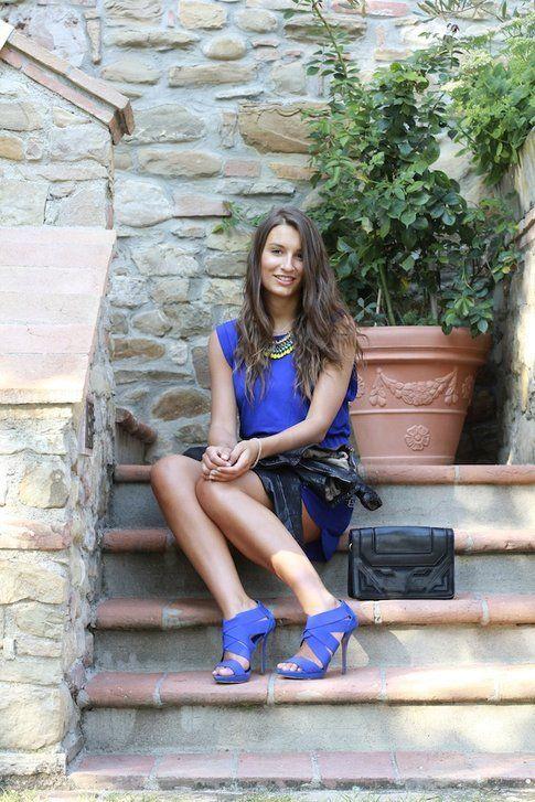 Il mio outfit blu elettrico perfetto per l'autunno