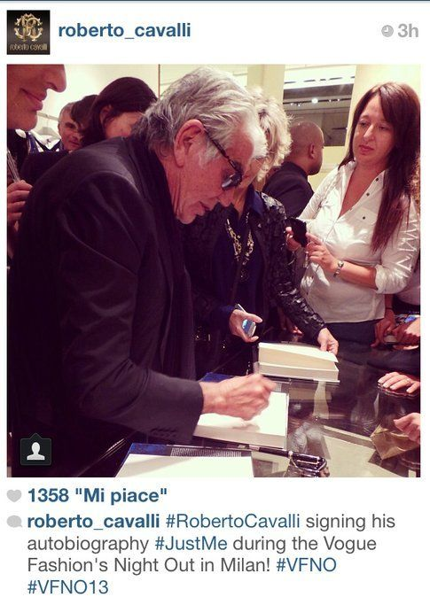 Vogue Fashion Night Out: la notte più fashion dell'anno vista attraverso Instagram! Foto: @roberto_cavalli