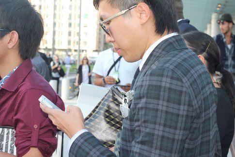 giacca da uomo con check rivisitato