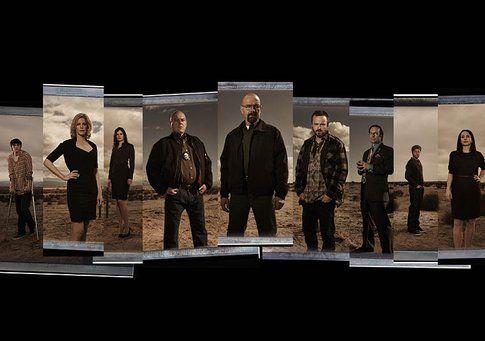 Il cast di Breaking Bad, foto Amc.com