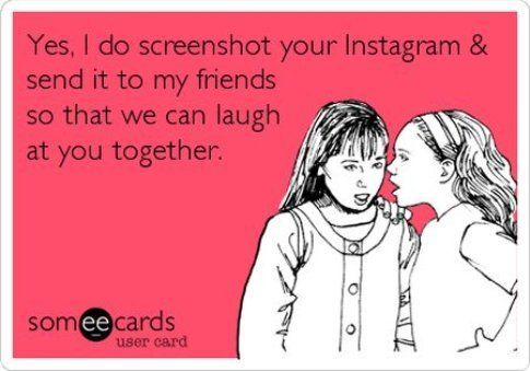 card divertenti su instagram. Fonte foto: someecard.com