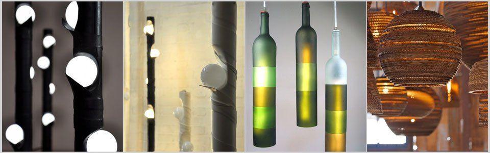 Lampade di design: bellissimi lampadari da materiali di recupero