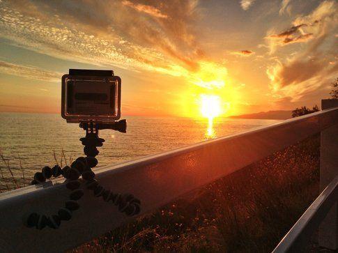 Time lapse al tramonto