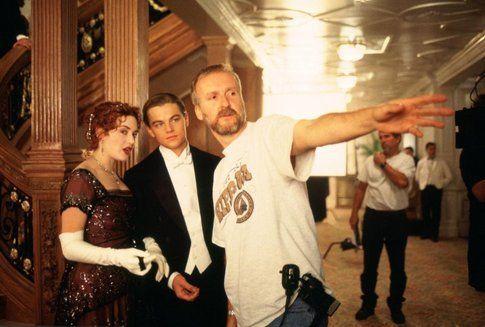 James Cameron durante le riprese del Titanic - foto da movieplayer.it