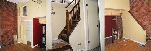Il micro-loft  prima dell'intervento di ristrutturazione