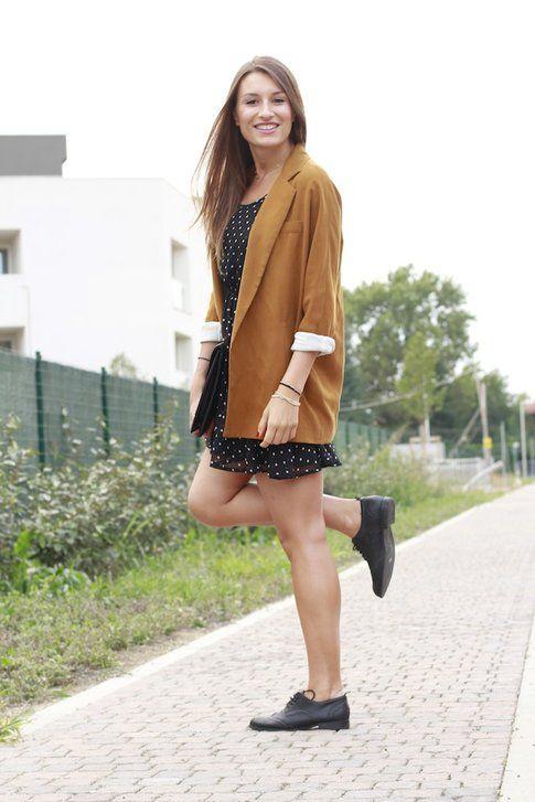 Il mio Outfit: Camel Chic, Pois e Francesine