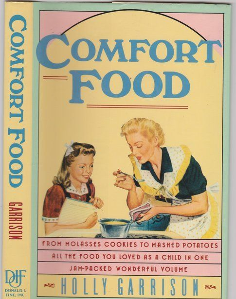 """Libro """"COMFORT FOOD"""" by Holly Garrison, Dell Publishing, 1988"""
