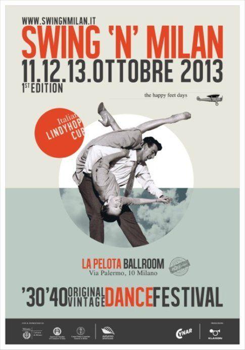Locandina di Swing'n Milan - immagine concessa da PAROLE & DINTORNI, ufficio stampa ufficiale del festival