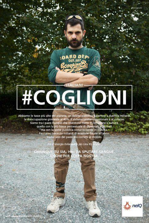 Immagine dalla campagna #coglioni - da bloggokin.it