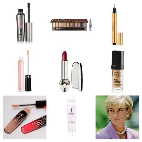 Il Make-up di Lady Diana - I prodotti per Copiarlo! (fonte: Sephora.com e lovemakeup24.blogspot.com)