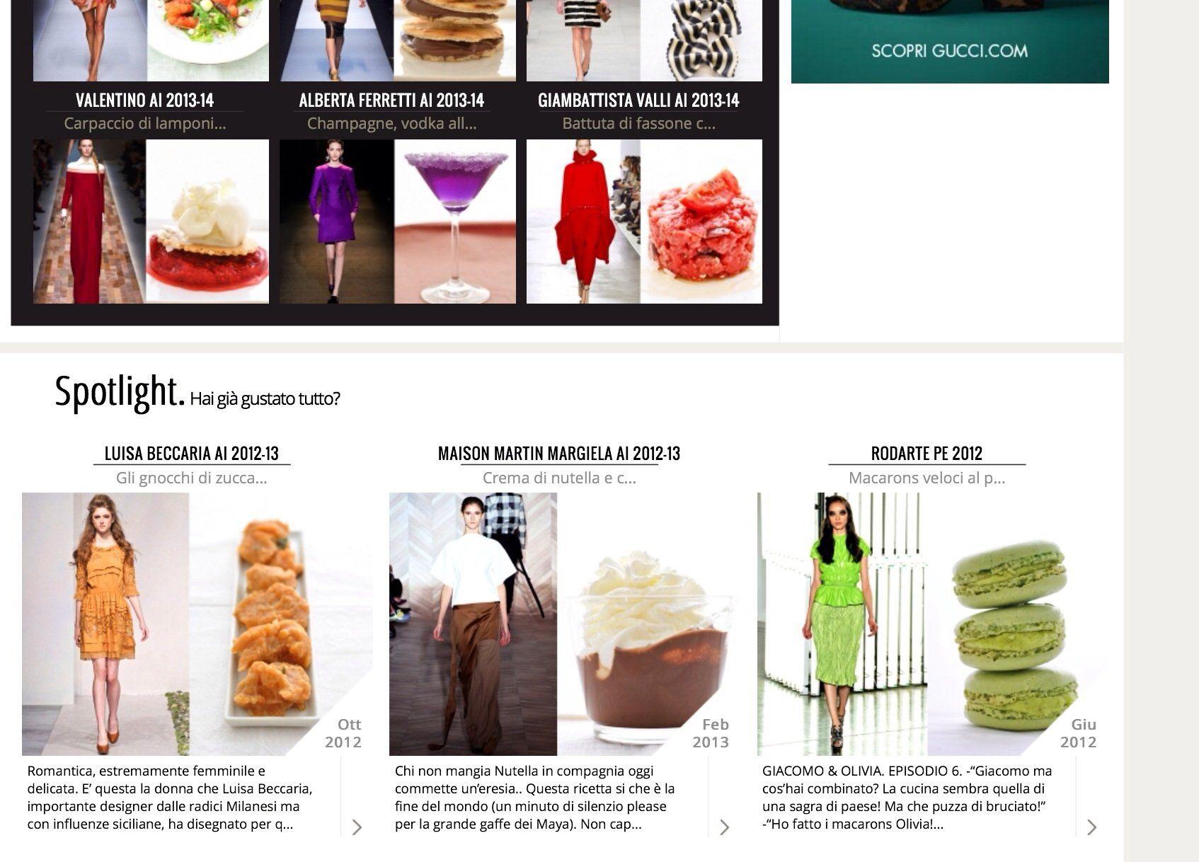 Anna Marconi di Taste of Runway: quando la moda incontra la cucina
