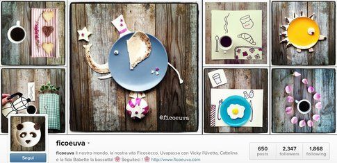 L'account Instagram di ficoeuva