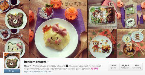 L'account Instagram di bentomonsters