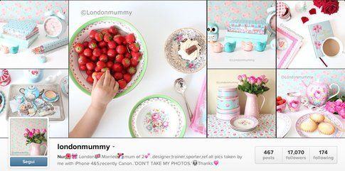 l'account Instagram di Londonmummy