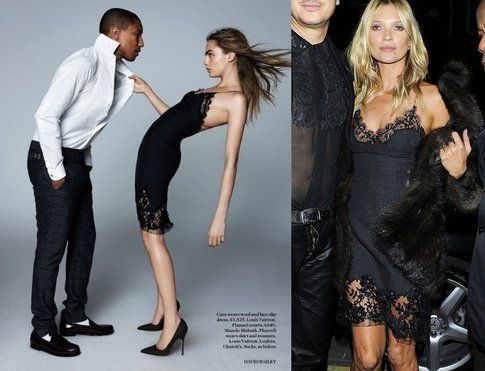 Abito-Sottoveste: come indossarlo e con cosa abbinarlo. Cara Delevingne e Kate Moss, fonte: British Vogue