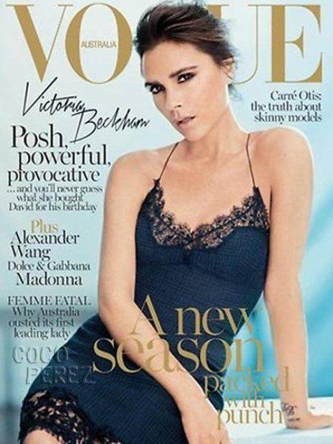 Abito-Sottoveste: come indossarlo e con cosa abbinarlo,copertina Vogue Australia con Victoria Beckham