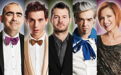 I giudici di X-Factor con Alessandro Cattelan