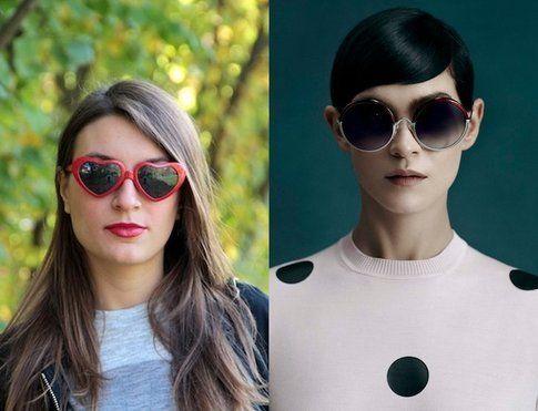 Occhiali da Sole: come abbinarli al rossetto - fonte. styleandtrouble.com e sportmax