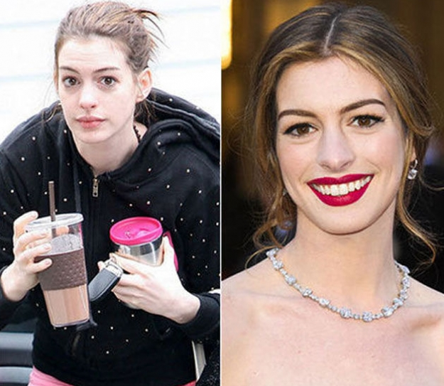 Anne Hathaway senza trucco