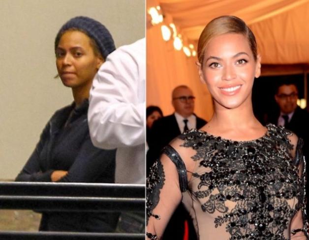 Beyonce Knowles senza trucco