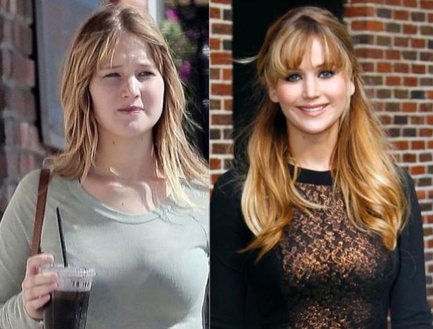 Jennifer Lawrence senza trucco