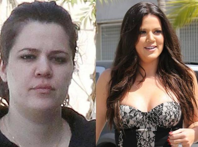 Khloe Kardashian senza trucco