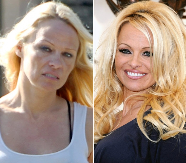 Pamela Anderson senza trucco