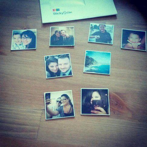 Stickygram: magneti con le foto di Instagram. Fonte: giovannagallo.it