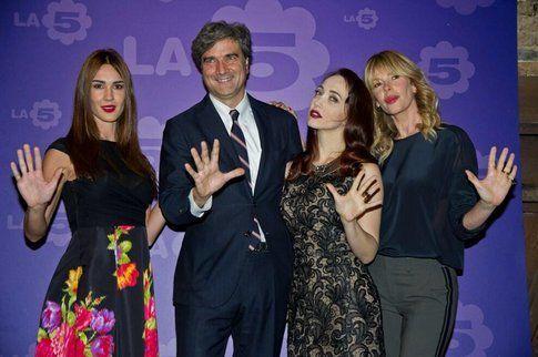 Silvia Toffanin, Giancarlo Scheri, Chiara Francini e Alessia Marcuzzi, foto @quimediaset
