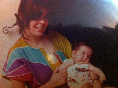 Io e mia madre; lei 24 anni, io 60 giorni scarsi.