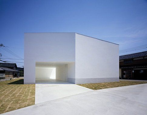 White cave house
