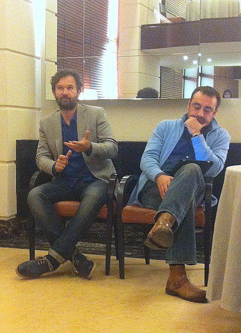 Carlo Cracco con Luca Ussia di Rizzoli
