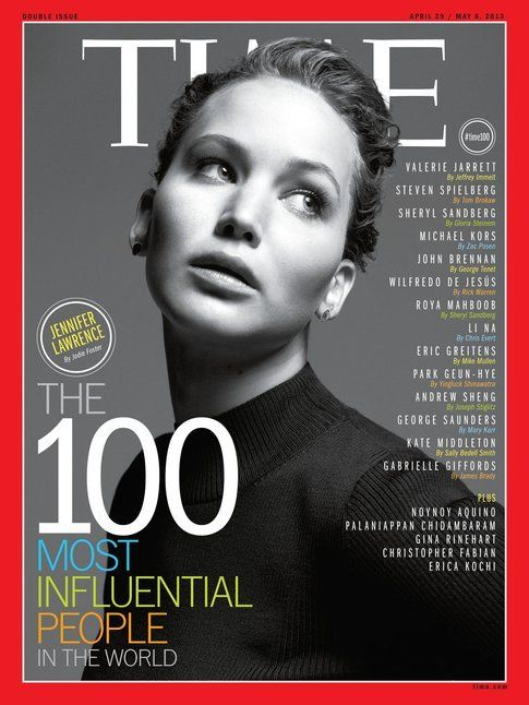 Jennifer Lawrence sulla copertina speciale del Time - foto Daringtodo.it
