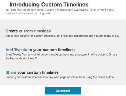 Custom timeline
