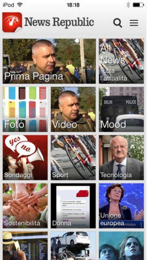 App iOS per leggere le news: News Republic