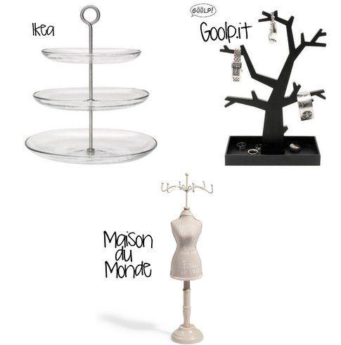 Portagioielli economici e versatili: perfetti per i bracciali! (fonte: Ikea, Goolp.it, Maison du Monde)