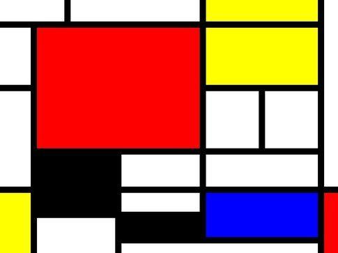 il famoso quadro di Mondrian